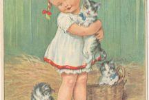дети на старинных открытках
