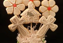 Religious sugar cookies confirmation and communion