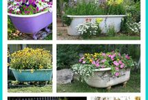 Repurposed flower containers