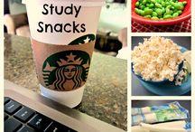 Healthy study snacks / Student snacks