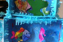 Onderwaterwereld / Thema onderwaterwereld voor kleuters, ideeënbord.