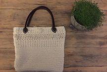 Raw cotton crochet / Raw cotton crochet bag- own pattern