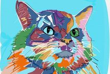 Amazing Cats as Fine Art / I create amazing artwork featuring cats - come and see! Commissions may be possible.