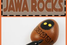 Character painted rocks