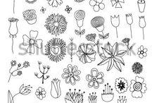 Цветы Линия