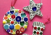 mosaic christmas decorations