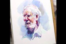 Watercolor demos