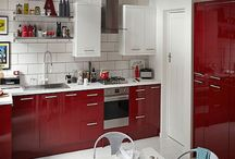 Contemporary Red Gloss Kitchens / The very latest in contemporary design with a luxuriously smooth red gloss finish.