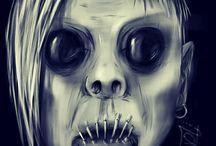 bizarre face