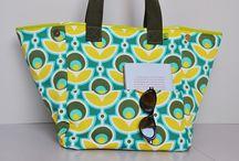 My pattern BEACHBOY / beachbag pattern for oilcloth or fabrics - Schnittmuster für große Strandtasche mit Nassfach und aushakbarem Wertsachenfach in Wachstuch oder Stoff