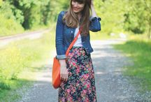 Fashion - maxi skirts / Outfit inspiration involving maxi skirts.