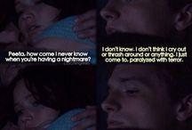 Catching fire: Katniss&Peeta♡