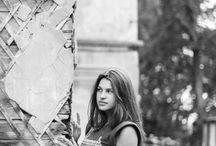 Фотосессия на улице девушка