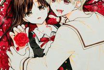 anime manga loves hugs kiss couple