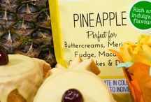 Pineapple Natural Flavoured Icing Sugar / Our Flavoured Icing Sugars are Free from gluten, Free from Dairy, suitable for Vegetarians, vegans also Halal diet.  Use these sugars instead of normal icing sugar or castor sugar in your recipes to give an intense flavour every time.  Perfect for Cheesecake, Buttercream, Meringues, Pavlova's, Cookies, Mousse, Fudge, Marshmallows and so much more check out our recipe site www.sugarandcrumbsmixingitup.co.uk