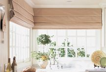 """Shades - Hobbled / This board illustrates the difference in """"Look"""" between a functional hobbled roman shade and a Hobbled roman shade valance"""