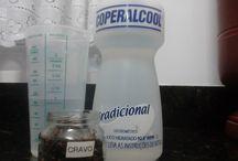 limpeza com cravo e álcool
