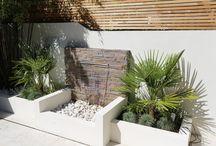 Small modern garden landscaping in Clapham