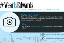 Edwards Competitions / Here is an easy way to win up to a $500 credit on your next purchase at Edwards. Entries are due on 7/29, official rules on our Facebook page https://www.facebook.com/EdwardsGarment/