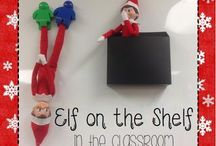 Elf in the Classroom / Elf in the classroom ideas! Also Elf on the Shelf ideas for home and free printables!