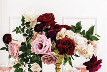 Wedding Flowers / Ideas for the flowers in our wedding.  Flower colors: burgundy, peach, and a splash of blue.  Theme: Rustic, romantic, vintage.