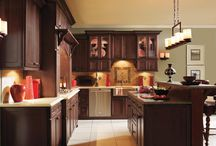 Marsala-Themed Decor Inspiration / Pantone's 2015 Color of the Year, Marsala, evokes a rich warmth that creates subtle design elegance in many aspects of the home. From kitchens to bathrooms, MasterBrand cabinets complement Marsala beautifully.   / by MasterBrand Cabinets