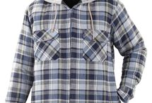 wholesale flannel jacket with hood for men