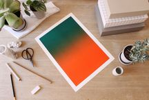 Gradient Edition posters / Gradient Edition is 200 unique posters produced by an old Heidelberg Offset machine, printed on quality paper with Pantone colors. The posters are limited editions and are available in two variants - Blue (blue to white gradient) and Orange Edition (green to orange gradient). There are only 100 pieces of each variant. Order and buy them at our Facebook page and contact us here, follow link below https://www.facebook.com/gradientedition?fref=nf