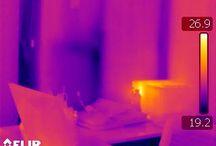 Termografías / Termografías que hacemos en el desarrollo de nuestra actividad, localizando sumideros energéticos, humedades y fallos de aislamiento