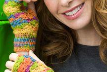 Crochet gloves, mittens