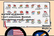 Country balls'n words-diffrences / Board with many memes about countryballs and memes with word-differences