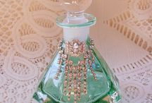 Perfume bottles and glass treasures ❤️ / by Toni Combs
