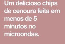 Chips de cenoura no micro