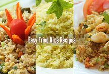 Rice Recipes / Recipes for cooking rice: cooked rice, fried rice, sushi rice,...