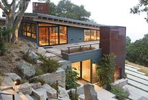 Steep slope house