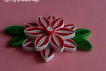 My quilling flowers.