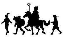 Sinterklaas slihouette en tekeningen