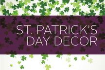 St. Patrick's Day Decor / This lucky board will get you all ready for St. Patrick's Day. Need inspiration for green decor, foods and outfits? We've got it here! We just want to make sure you're not getting pinched on March 17.