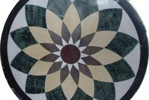 Waterjet Medallion Tiles / waterjet cut marble floor medallion tiles.