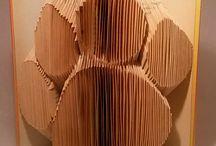 Hajtogatott könyveim - my folded book art sculptures / Az öreg könyveknek egy lehetőséget adok, s szoborként folytathatják életüket.- I can give an opportunity for old books, they can follow their life as a sculpture. http://www.meska.hu/Shop/index/16738