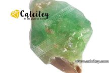 Green Calcite / Calcite  calcium carbonate (CaCO3)