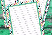 printables briefpapier / Notes
