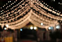 Wedding Lights / Ideas for a well-lit wedding party.