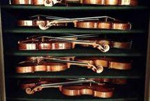 Violinos, violas e violoncelos