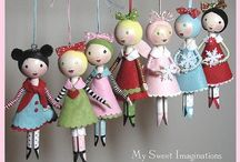Clothes pin dolls