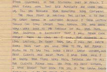 Letters from Malawi / During my years as a tour guide in Africa, I met many amazing people. Some of them sent me letters for various reasons - some are funny, touching, even heart-rending. Here's the collection. / by Roger Harris