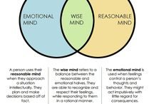 DBT Mindfulness skills: states of mind: reasonable, emotional and wise mind
