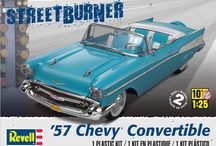 Classic Chevrolets / The many Chevrolet models that Revell USA makes.