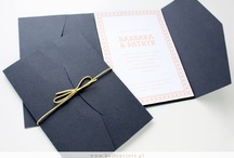 Zaproszenia ślubne z niebieskim