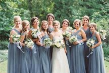 Dusty Blue, Gray and Blueberry Blue Wedding Color Inspirations